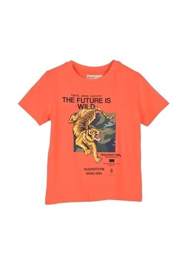 Silversun Kids Erkek Çocuk Baskılı Kısa Kollu Tişört Bk 215483 Oranj